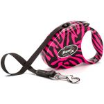 "Рулетка для собак Flexi ""Fashion Ladies Zebra Pink"" S ремень 3 м 12 кг"